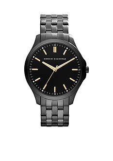 Armani Exchange AX Men's Gunmetal Stainless Steel Three-Hand Watch