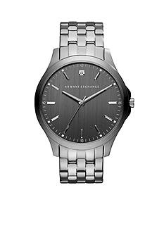 Armani Exchange AX Men's Gunmetal IP Stainless Steel Diamond Watch