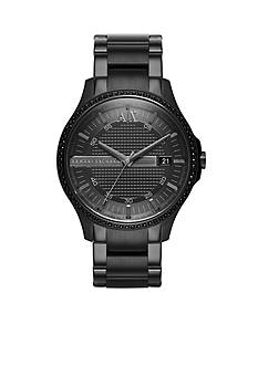 Armani Exchange AX Men's Black IP Stainless Steel Glitz 3 Hand Watch