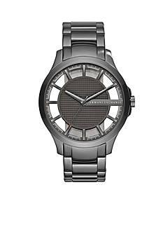Armani Exchange AX Men's Gunmetal Stainless Steel Three-Hand Watch