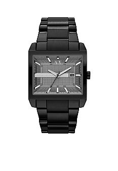 Armani Exchange AX Mens Gunmetal Stainless Steel Three-Hand Watch