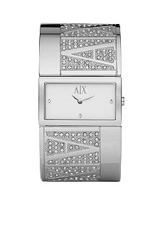 Armani Exchange AX Stainless Steel Half-Bangle Glitz Watch