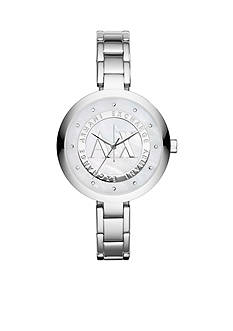 Armani Exchange AX Stainless Steel Three-Hand Glitz Watch