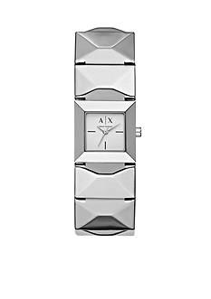 Armani Exchange AX Women's Silver-Tone Three-Hand Watch