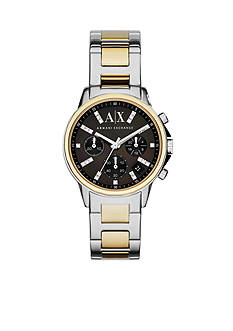 Armani Exchange AX Women's Gold-Tone and Stainless Steel Glitz Chronograph Watch