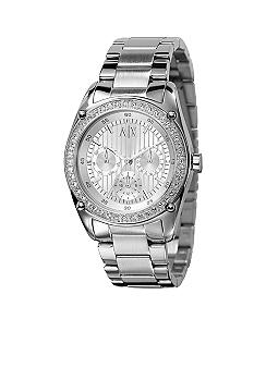 Armani Exchange AX Ladies Stainless Steel Glitz Bracelet Watch