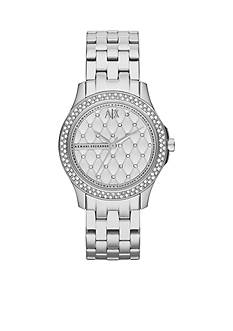 Armani Exchange AX Women's Silver-Tone Stainless Steel Watch
