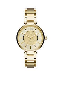 Armani Exchange AX Women's Gold-tone Olivia Three-Hand Watch