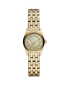 Armani Exchange AX Women's Gold-Tone Stainless Steel 3 Hand Watch
