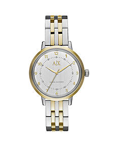 Armani Exchange AX Women's Three-Hand Two-Tone Stainless Steel Watch