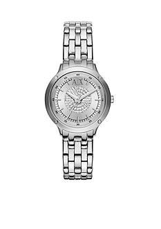 Armani Exchange AX Women's Stainless Steel Three Hand Glitz Watch
