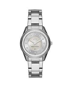 Armani Exchange AX Women's Active Stainless Steel Glitz 3-Hand Watch