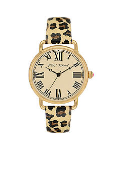 Betsey Johnson Brown Leopard Vintage Watch