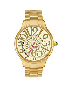 Betsey Johnson Gold Watch with Swirl Dial