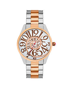 Betsey Johnson Two-Tone Optical Dial Watch