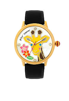 Betsey Johnson Giraffe Graphic Dial Watch
