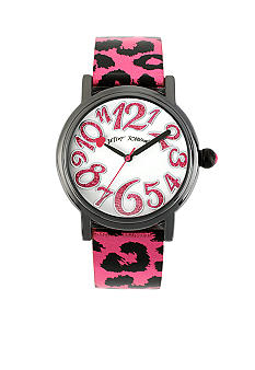 Betsey Johnson Pink Metallic Leopard Printed Strap