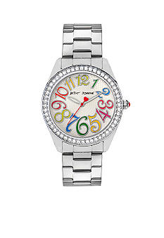 Betsey Johnson Multi-Colored Numeral Dial Watch