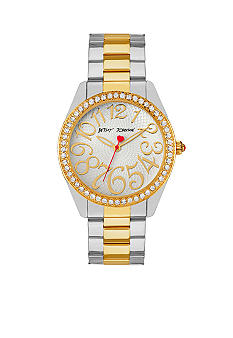 Betsey Johnson Two-Tone Watch