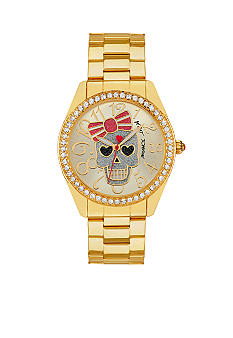 Betsey Johnson Skull Graphic Dial Watch