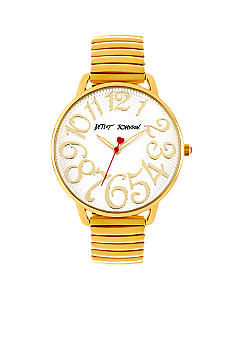 Betsey Johnson Gold Tone Expansion Band