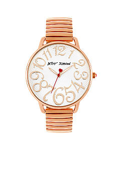 Betsey Johnson Rose Gold Tone Expansion Band