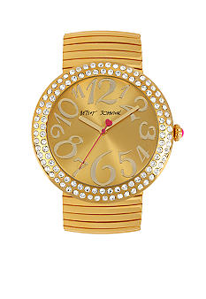 Betsey Johnson Gold Jumbo Expansion Band Watch