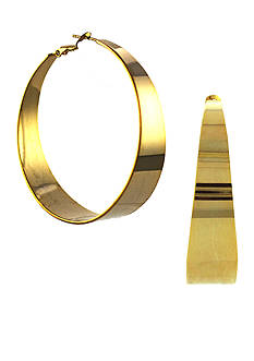 Vince Camuto Gold-Tone Tapered Hoop Earrings