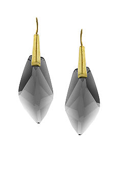 Vince Camuto Gold and Black Diamond Drop Earring