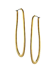 Vince Camuto Gold Elongated Hoop Earrings