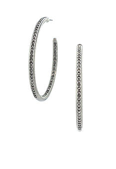 Vince Camuto Rhodium and Crystal Hoop