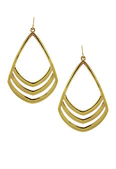 Vince Camuto Gold Chevron Drop Earrings