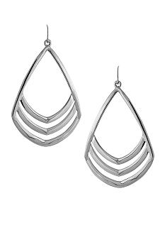 Vince Camuto Silver Tone Drop Earrings