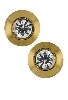 Vince Camuto Gold and Crystal Stud Earrings