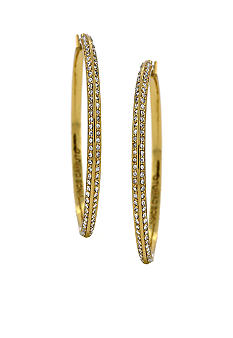 Vince Camuto Jewelry - Small Gold Pave Hoop Earrings
