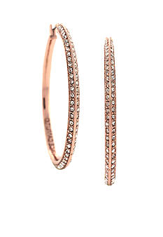 Vince Camuto Small Rose Gold Pave Hoop