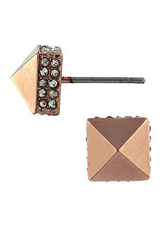 Vince Camuto Rose Gold Micro Pyramid Stud Earring