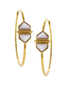 Vince Camuto Hidden Gem Hoop Earrings