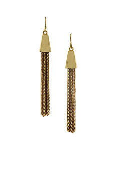 Vince Camuto Gold Tassel Earrings