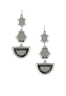 Vince Camuto Silver Holiday Earrings