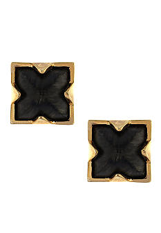 Vince Camuto Neutral Territory Wood Stud Earring