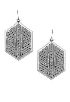 Vince Camuto Tribal Fusion Silver Drop Earring