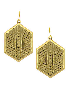 Vince Camuto Tribal Fusion Gold Drop Earring