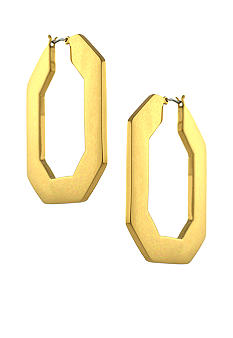 Vince Camuto Modern Ways Gold Hoop Earrings