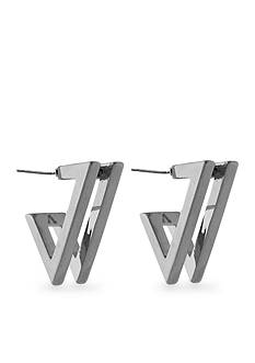 Vince Camuto Very Vince Silver Double V Earring
