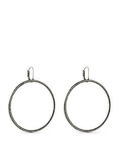 Vince Camuto Silver-Tone Indigo Blues Drop Earrings