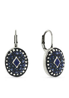 Vince Camuto Silver-Tone Indigo Blues Mosaic Drop Earrings