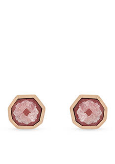 Vince Camuto Rose Gold-Tone Colored Stone Stud Earrings
