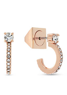 Vince Camuto Burnt Rose-Gold Dainty Studded Earrings