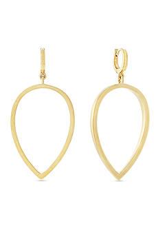 Vince Camuto Gold-Tone Drop Huggie Earrings